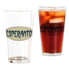 Esperanto Drinking Glass