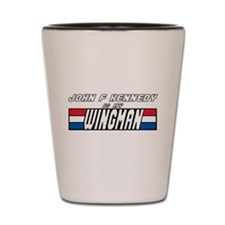 John F Kennedy Wingman Shot Glass