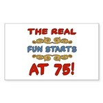 Real Fun 75th Birthday Sticker (Rectangle)