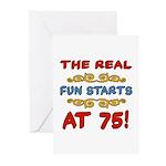 Real Fun 75th Birthday Greeting Cards (Pk of 10)