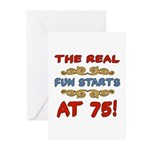 Real Fun 75th Birthday Greeting Cards (Pk of 20)