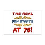 Real Fun 75th Birthday Mini Poster Print
