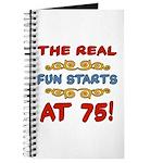 Real Fun 75th Birthday Journal