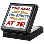 Real Fun 75th Birthday Keepsake Box