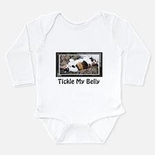 Cute Bellied Long Sleeve Infant Bodysuit