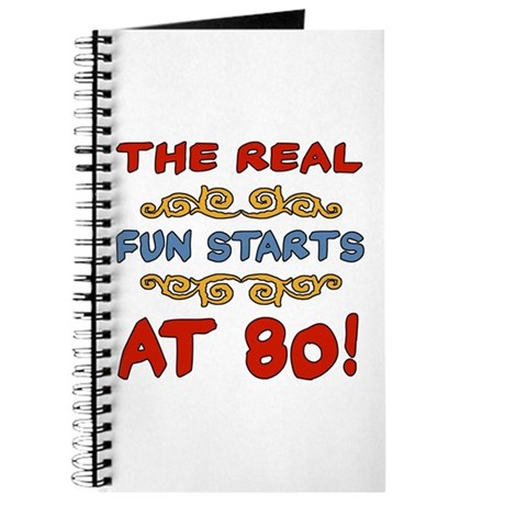 Real Fun 80th Birthday Journal