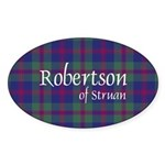 Tartan - Robertson of Struan Sticker (Oval)