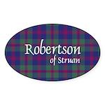 Tartan - Robertson of Struan Sticker (Oval 10 pk)