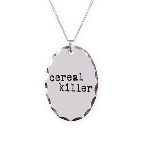Cereal Killer Necklace Oval Charm