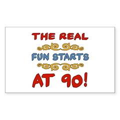 Real Fun 90th Birthday Decal
