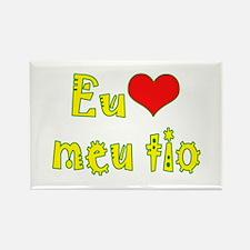 I Love Uncle (Port/Brasil) Rectangle Magnet