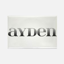 Ayden Carved Metal Rectangle Magnet