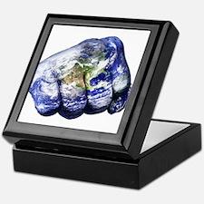 Mohammed Ali Right Earth Fist Keepsake Box