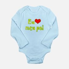 I Love Dad (Port/Brasil) Long Sleeve Infant Bodysu