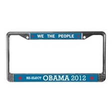 Re-elect Obama 2012 License Plate Frame