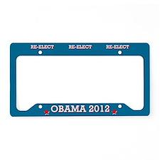 Re-elect Obama 2012 License Plate Holder