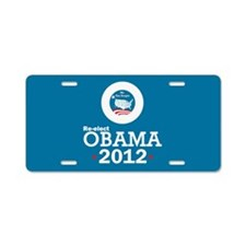 Re-elect Obama 2012 Aluminum License Plate