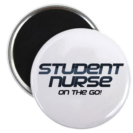 "Student Nurse On The Go 2.25"" Magnet (100 pack)"