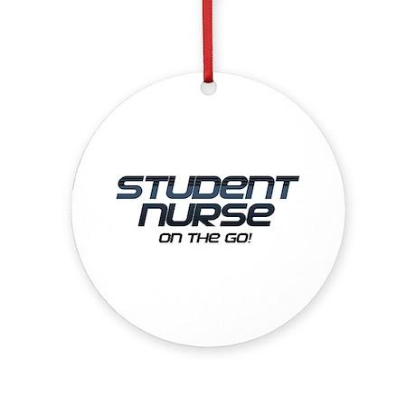 Student Nurse On The Go Ornament (Round)