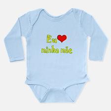 I Love Mom (Port/Brasil) Long Sleeve Infant Bodysu