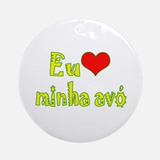 I Love Grandma (Port/Brasil) Ornament (Round)