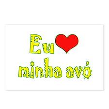 I Love Grandma (Port/Brasil) Postcards (Package of