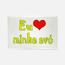 I Love Grandma (Port/Brasil) Rectangle Magnet