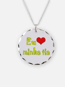 I Love Aunt (Port/Brasil) Necklace