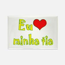 I Love Aunt (Port/Brasil) Rectangle Magnet