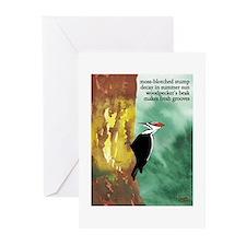 Woodpecker Haiku Greeting Cards (Pk of 10)
