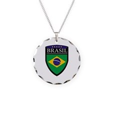 Brasil Flag Patch Necklace