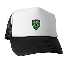 Brasil Flag Patch Trucker Hat