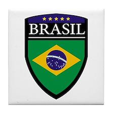 Brasil Flag Patch Tile Coaster