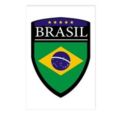 Brasil Flag Patch Postcards (Package of 8)