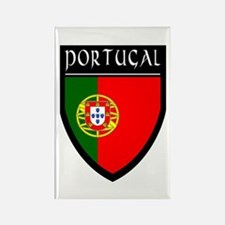 Portugal Flag Patch Rectangle Magnet