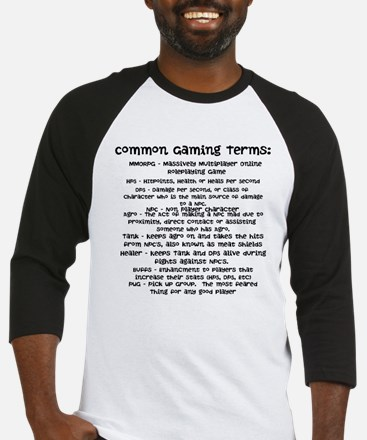 Common Gaming Terms Baseball Jersey