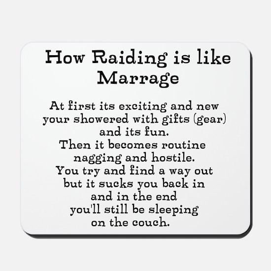 Raiding vs Marrage Mousepad