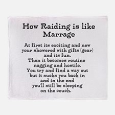 Raiding vs Marrage Throw Blanket