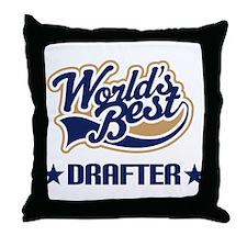 Drafter Gift (Worlds Best) Throw Pillow