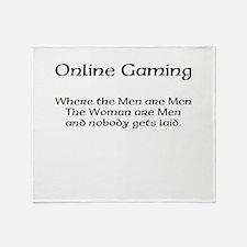 Online Gaming Throw Blanket