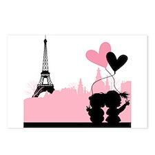 Paris love Postcards (Package of 8)