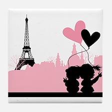 Paris love Tile Coaster