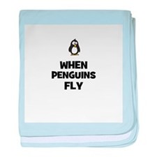 when penguins fly baby blanket