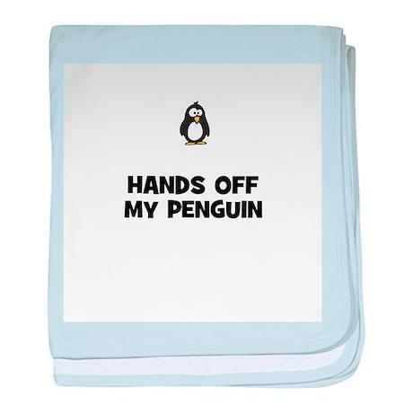 hands off my penguin baby blanket