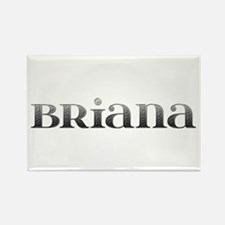 Briana Carved Metal Rectangle Magnet