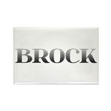 Brock Carved Metal Rectangle Magnet