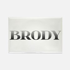 Brody Carved Metal Rectangle Magnet