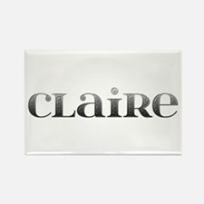 Claire Carved Metal Rectangle Magnet