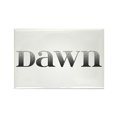 Dawn Carved Metal Rectangle Magnet