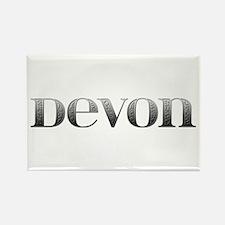 Devon Carved Metal Rectangle Magnet